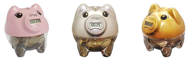 Cofre Contador de Moedas Pig Bank - 4 Cores Disponíveis << R$ 3591 >>