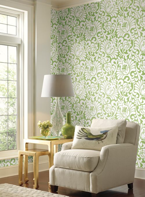 Ashford House Wallcoverings, Tulip Damask- ASH592.