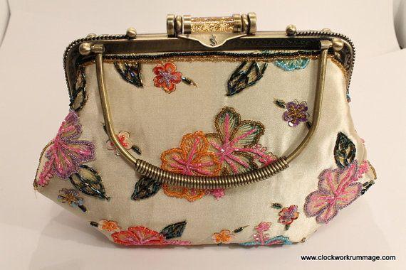 Beaded Purse  Vintage Purse Purse Evening Bag by ClockworkRummage