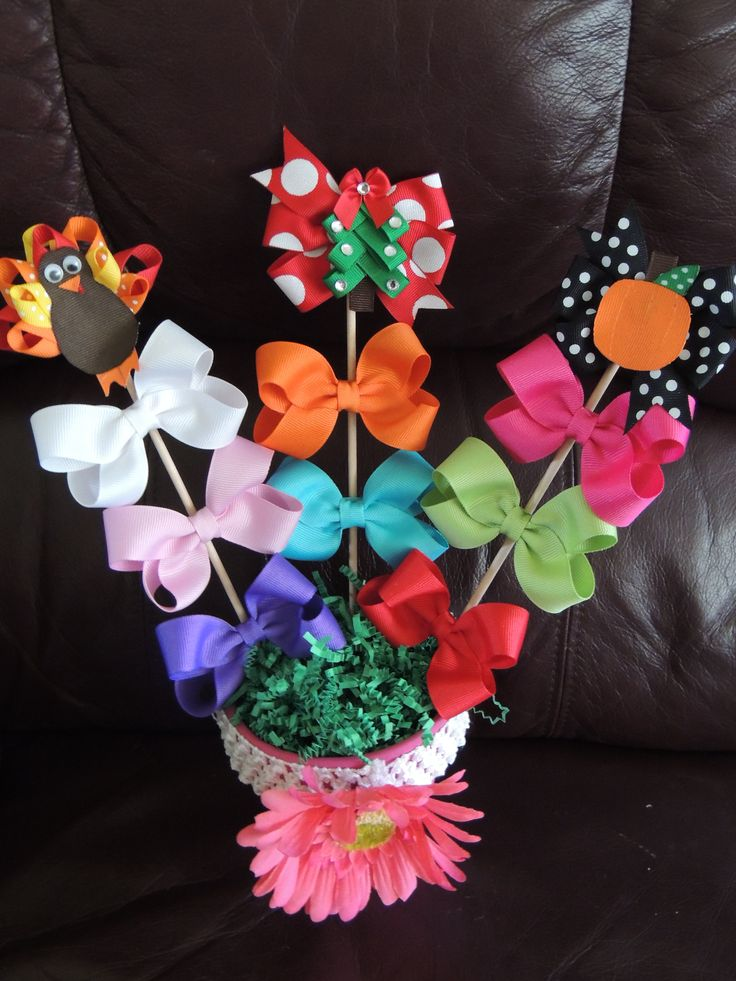Hair Bow Bouquet Perfect Gift For A Baby Girl