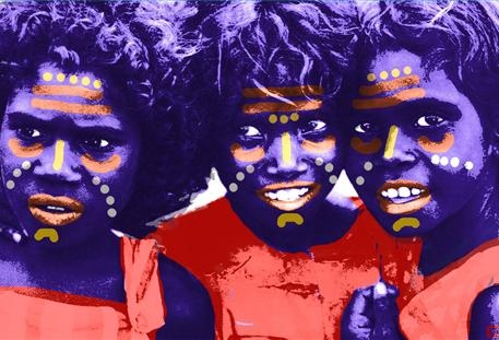An impressionistic view of our aboriginal people by artist Rico Ovadia