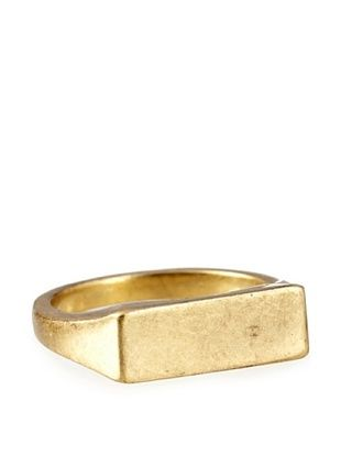 30% OFF Kate Spade Saturday Brass Rectangle Signet Ring, Size 6