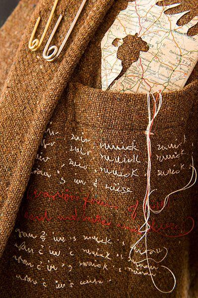 RECENT STITCHED GARMENT - 'Waulking jacket' | rosalind wyatt