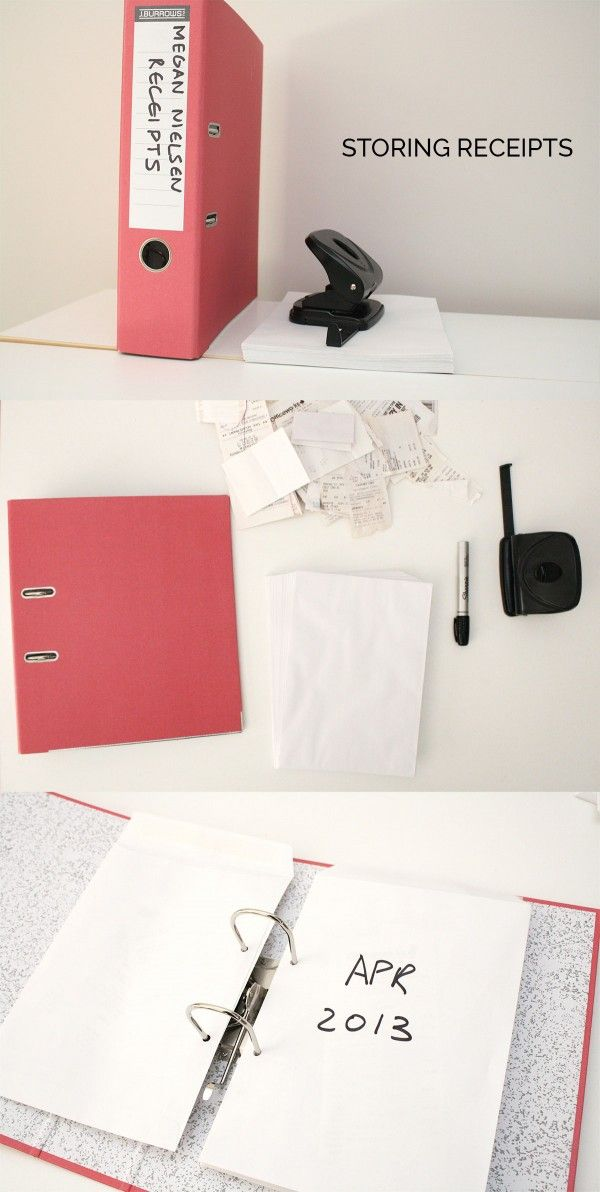 megan nielsen design diary: Quick tip // storing receipts                                                                                                                                                                                 More