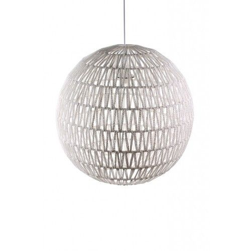 O5 Hanglamp gehaakt bol wit   LOODS 5 €65,00