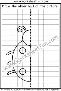 Draw the other half – Ladybug – One Worksheet