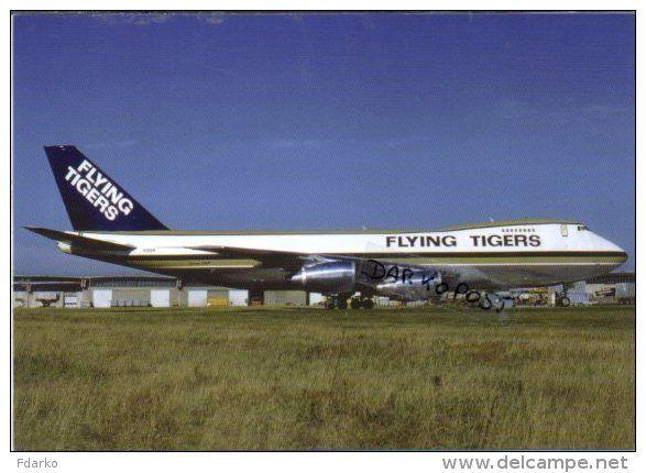 Boeing B747-245F Flying Tigers Airlines B 747 Avion B.747  Aircraft Aviation Aiplane B-747 - 1946-....: Ere Moderne