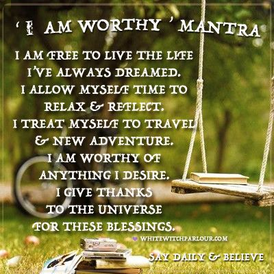 mantra, daily prayer, blessings, dream life, manifestation, believe, enchanted, witch, magick, adventure, inspiration, goals.  www.whitewitchparlour.com