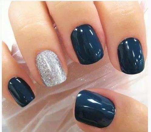 Dark blue & silver