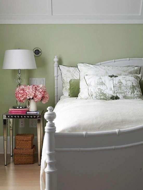 Idee per le pareti della camera da letto - Colore parete camera da letto verde chiaro