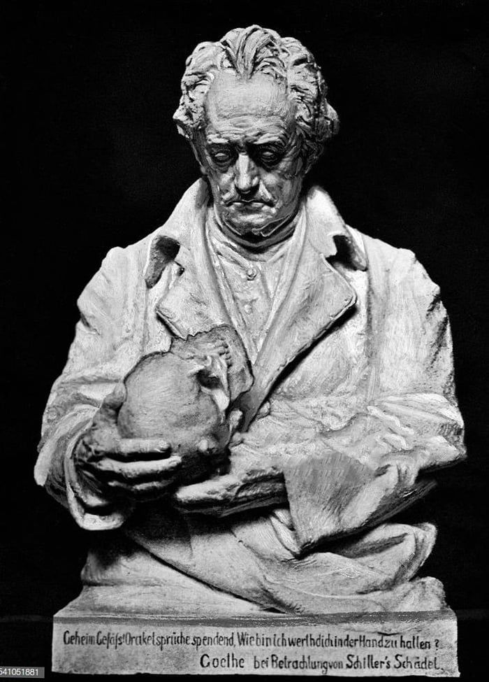 Goethe Holding the Skull of his Life Long Friend, the