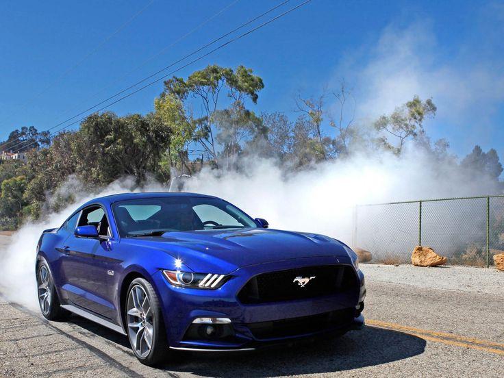 2015 Ford Mustang GT Blue HD Wallpaper