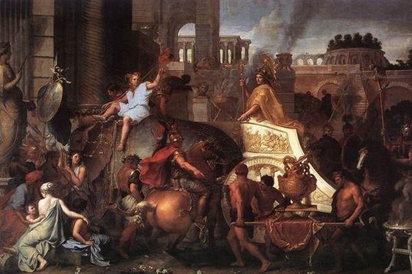 알렉산더 대왕의 바빌론 입성: 알렉산더 대왕의 승리(샤를 르 브룅 作, 17세기경)