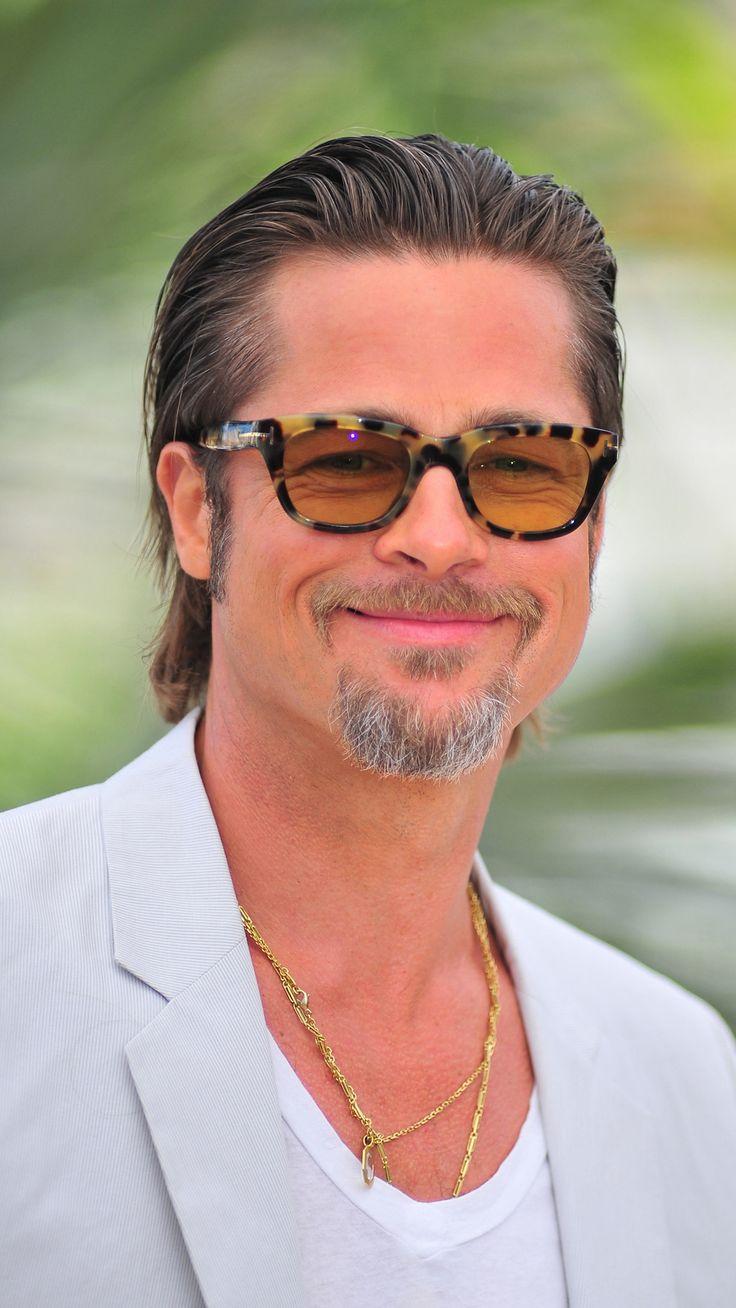 different Brad Pitt hairstyles 2014