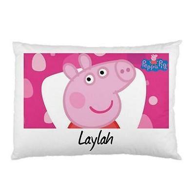 Peppa Pig  Personalised Pillowcase Kids Children's 'You Choose Name'
