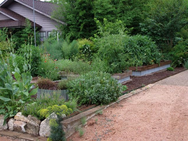 I want an edible front yard, but a) in ground (not ...