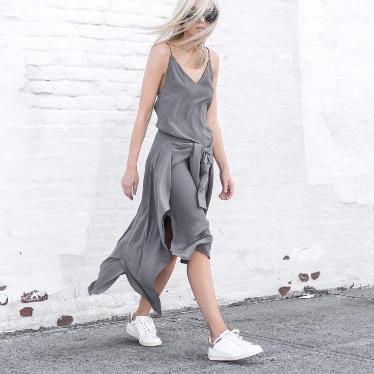 TF X FIGTNY   SPRING 16 COLLABORATION ATHLETICA SLIP DRESS #thirdform #figtny #minimal #urban #streetstyle #fashion #trend #clean #grey #dress #white