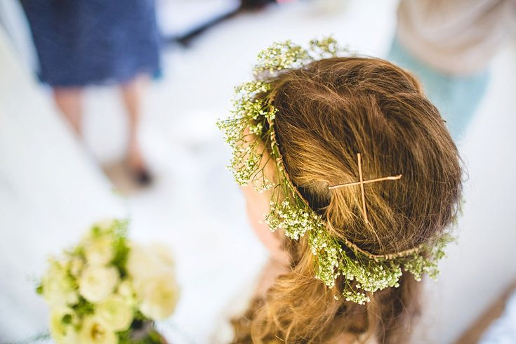 Gypsophila floral crown  | http://www.s6photography.co.uk/