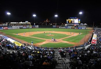 <p>The Iowa Cubs, Triple-A affiliate of the Chicago Cubs, play home games at Principal Park on the downtown Des Moines Riverwalk.</p>