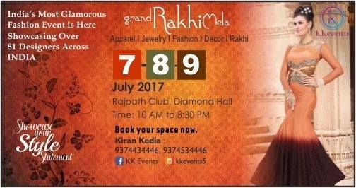 We are back with a bang and this time its going to be a rocking show for Rakhi Festival in Ahmedabad. Latest collection designed for the festive will be presented by beautiful designers of all over India.  #lifestyleexhibition #kkevents  BOOK YOUR SPACE NOW...Call us on 93745 34446