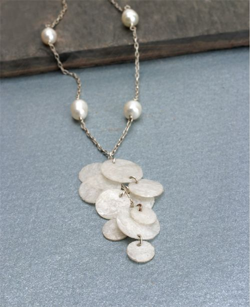 You'll never guess, but this necklace was made with reused bubble wrap.