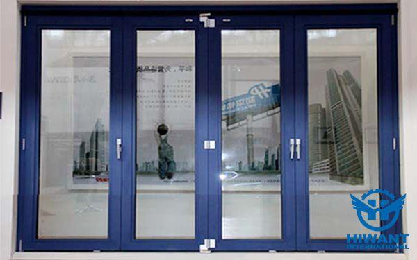 Bright Blue Color Powder Color Aluminium Profile For Windows And Doors Metal Window Frames Aluminium Windows And Doors Aluminium Doors