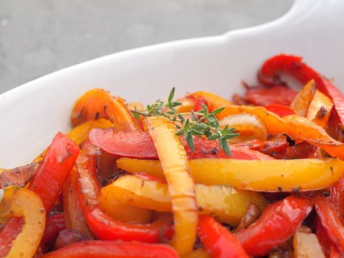 sauteed bell peppers as side dish