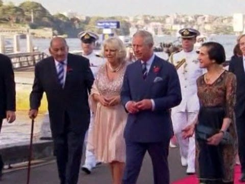 Prince Charles and his wife Camilla the Duchess of Cornwall arrive in Sydney, as they continue their tour of the Pacific in honor of Queen Elizabeth's Diamond Jubilee.     Published on Nov 9, 2012   Source: NTDTV.