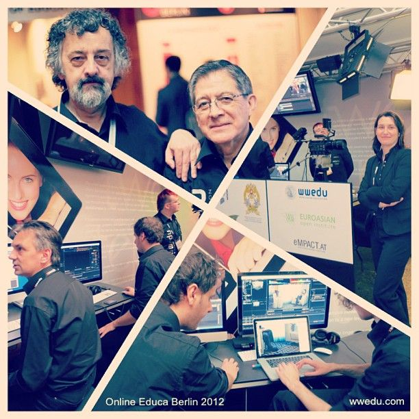 WWEDU at Online Educa Berlin 2012 #oeb12 #instacollage #wwedu #fernstudium #online #education #berlin #intercontinental #elearning #bildung #weiterbildung #messe #messestand #booth #employees #JonBaggaley @Otto Benavides