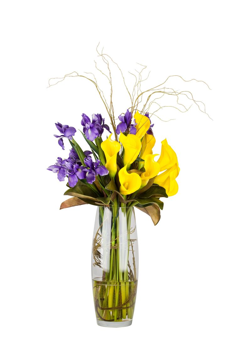 55 best our arrangements images on pinterest corporate flowers the contrasting colours make this arrangement pop love irises and calla lilies together izmirmasajfo Choice Image