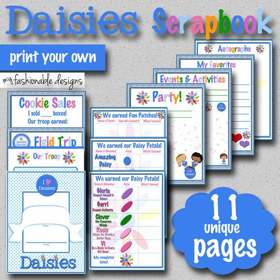 I need one for my Junior troop! Girl Scouts Daisies Scrapbook Pages  11 by MyFashionableDesigns, $4.00