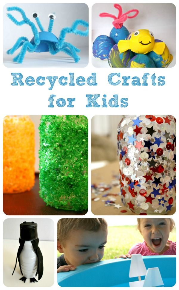 34 best crafting from recycled materials images on for Recycled water bottle crafts for kids