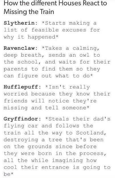 I'm a Slytherin.... I'd probably come up with reasons why it happened while thinking of how to fix it.
