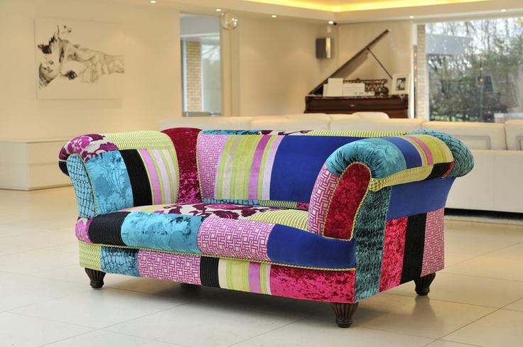 stunning patchwork sofa handmade in lancashire patchwork. Black Bedroom Furniture Sets. Home Design Ideas