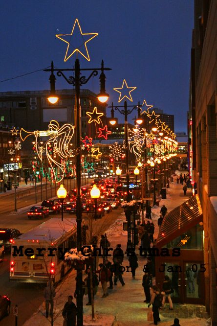 "Christmas in Winnipeg, Canada. We have been dubbed the ""Christmas capital of Canada"" for our christmas decorating each year."