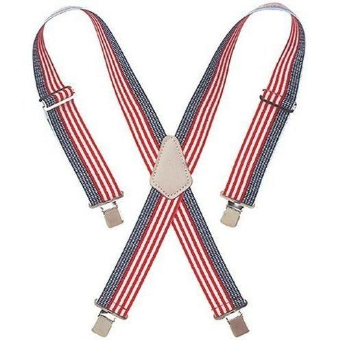 CLC 110USA-CS Heavy-Duty Work Suspenders, USA Flag Print
