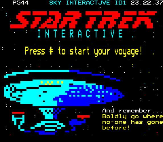 Startrek on teletext