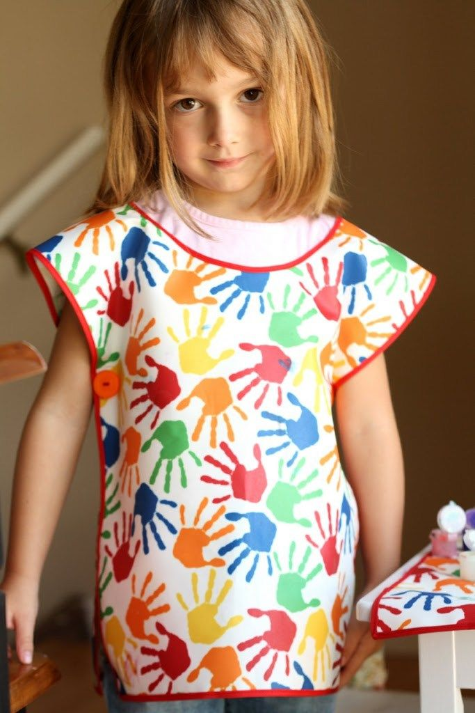 Art Smock and Mat - Easy as 1-2-3! - Tidbits