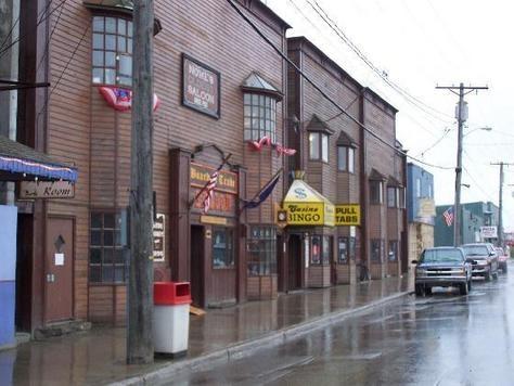 Famous downtown Nome Alaska