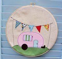 New #camper wall hanging.  #banner #etsy: Wall Art, Wall Hanging, Campers Trailers, Home Crafts, Christmas, Quilts Cupcakes, Cupcakes Rosa-Choqu, Happy Campers, Vintage Campers