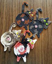 Ravelry: Peeking Cat Butt Coaster pattern by Upper Crust Crochet