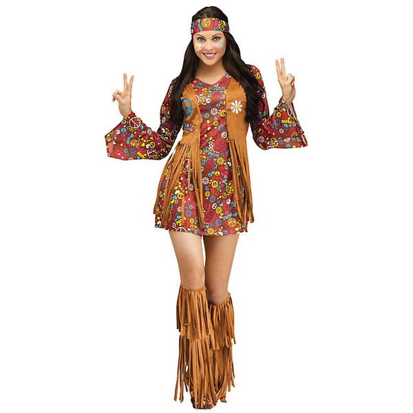 Adult Peace & Love Hippie Sexy Costume ($40) ❤ liked on Polyvore featuring costumes, halloween costumes, multicolor, sexy halloween costumes, adult hippie costume, adult halloween costumes, white costume and colorful halloween costumes