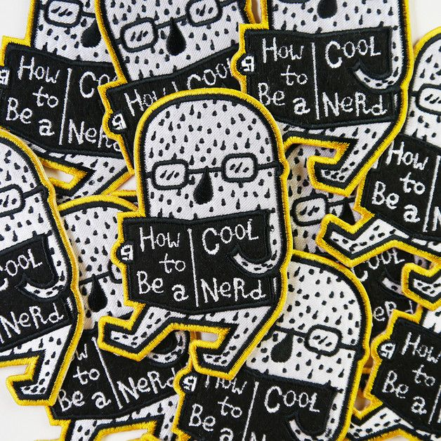 Iron-on patches – How To Be A Cool Nerd Iron On Patch – a unique product by minifanfan on DaWanda