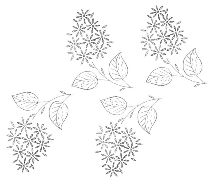 Free embroidery pattern a bunch of little flowers