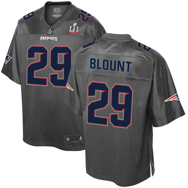 6380d1a6565 ... LeGarrette Blount New England Patriots Pro Line Super Bowl LI Champions  Stronghold Fashion Jersey - Gray Nike ...