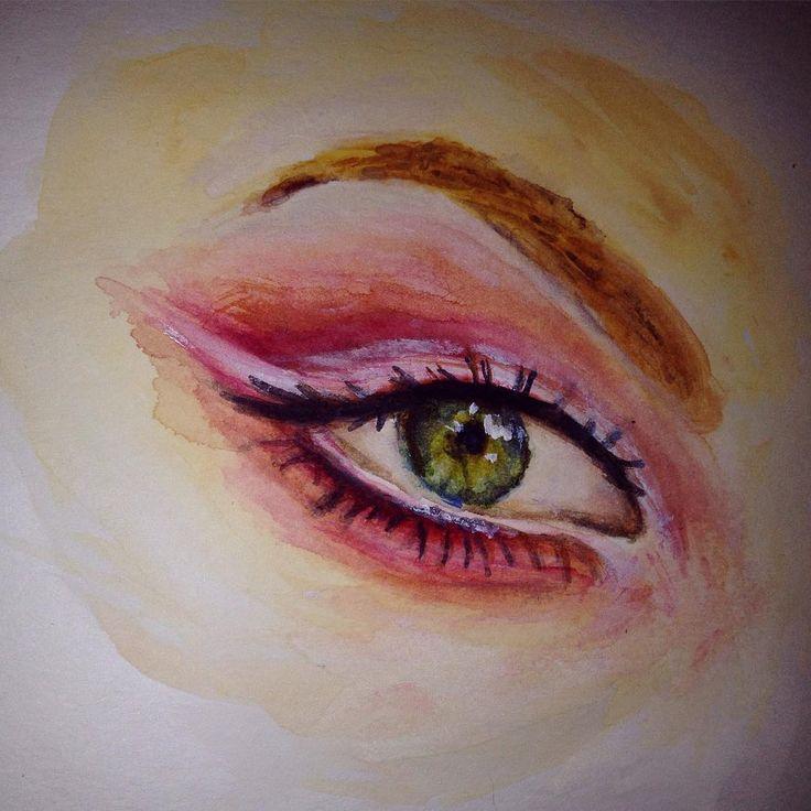 Visual diary realism. #eye #realism #watercolor #windsorandnewton #alluramaison #artist