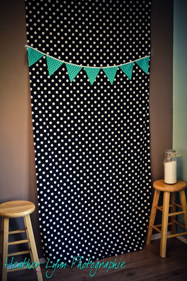 Photo booth backdrop idea!