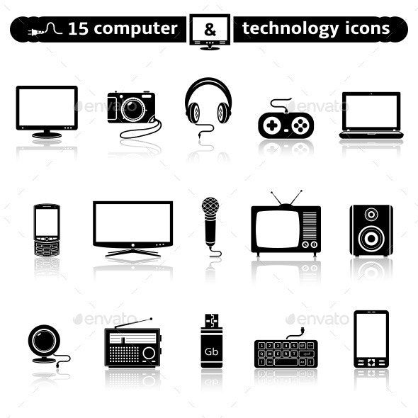 Computer And Technology Icon Set Affiliate Technology