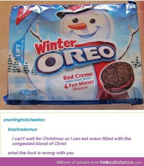 Don't let the Oreos guy see this
