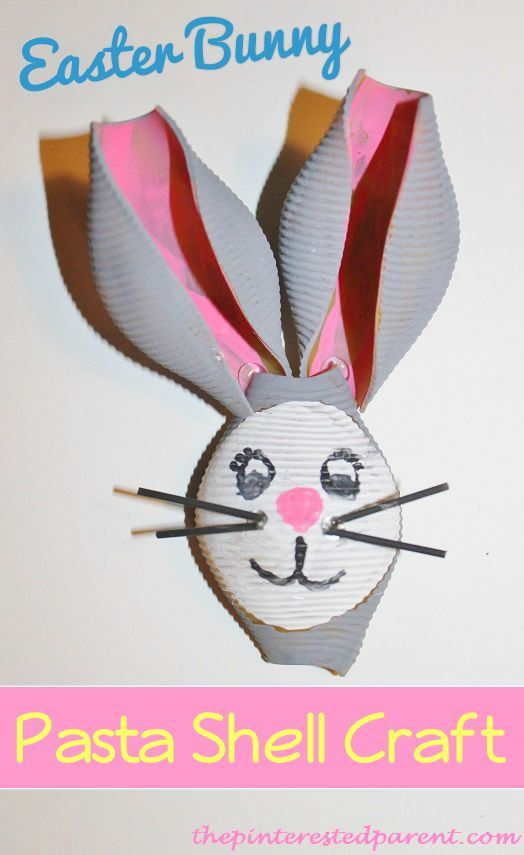 Check out this adorable Easter craft made with pasta shells.